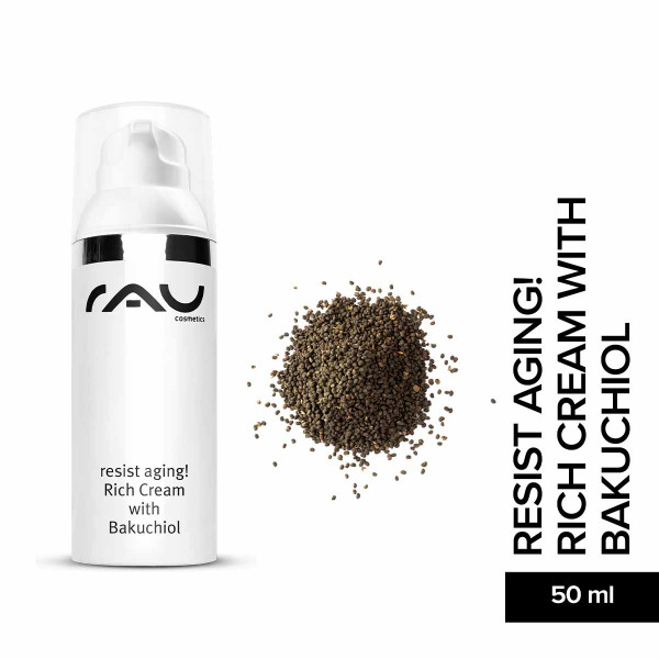 RAU resist aging! rich cream with bakuchiol Hautpflege Gesichtspflege skin care Naturkosmetik