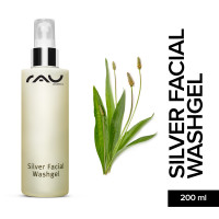 RAU Silver Facial Washgel 200 ml - Face Cleansing with Microsilver & Ribwort